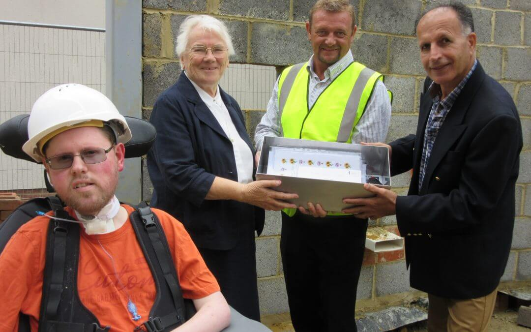 Time capsule is buried in new hospital building