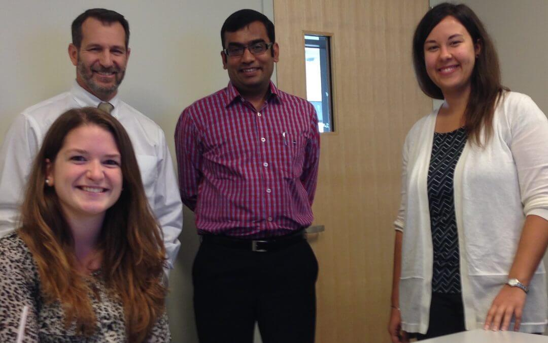 Caption: Rasheed Meeran with Dr Giacino and his research team. © Holy Cross Hospital