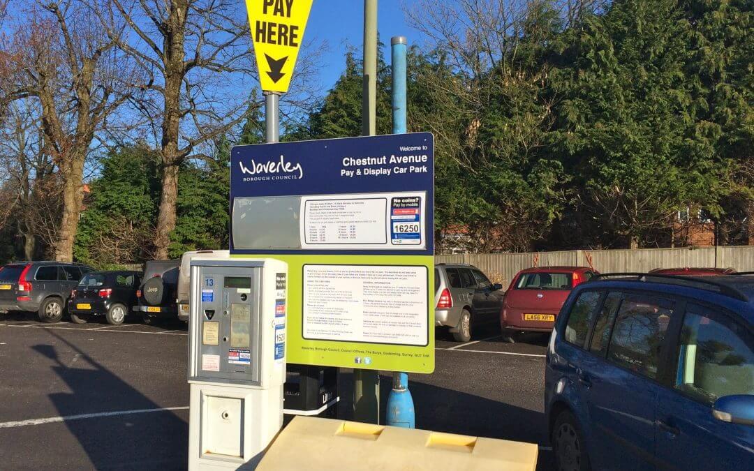 Waverley parking payment machine