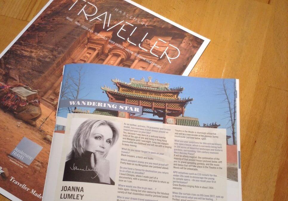 Haslemere Travel interviews star Joanna Lumley