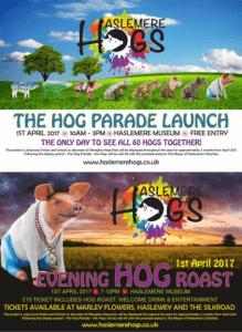 hog parade hog roast poster