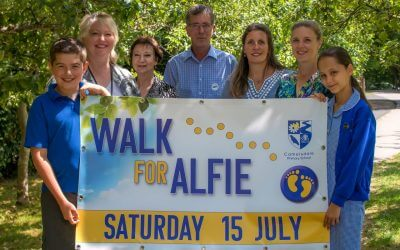 More than 400 on 'Walk for Alfie' raise over  £5,000