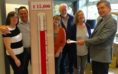 Chamber posts cheque to support business and public