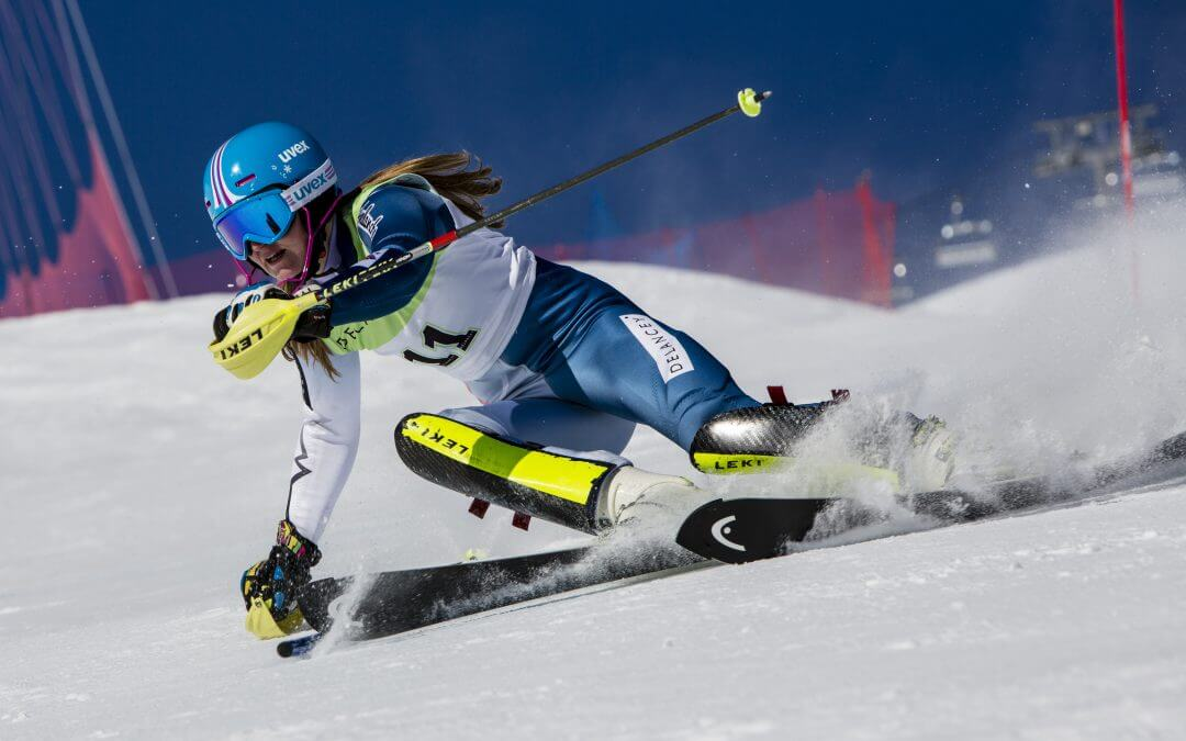 Charlie Guest skiing