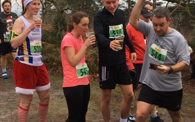 Runners (and drinkers) take part in the Boxing Day Run