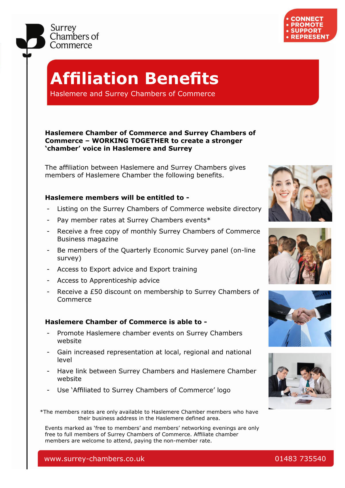 Image of the benefits of affiliation with Surrey Chambers of Commerce