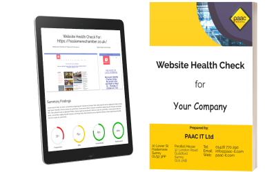 Get a free Website Health check from PAAC IT