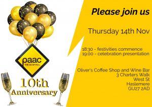 PAAC IT birthday invitation