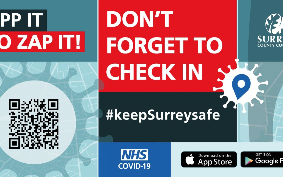 Surrey County Council urges businesses to get ready for the NHS COVID-19 app