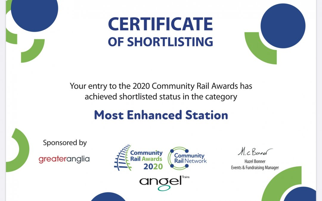 Haslemere Station shortlisted for coveted awards