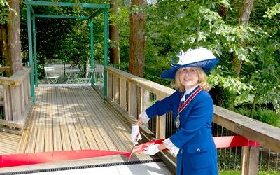 New treehouse provides a woodland view for patients at Holy Cross